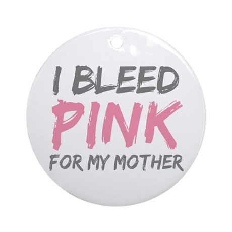 Pink Breast Cancer Mother Mom Ornament (Round)
