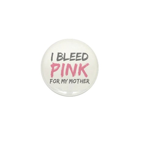 Pink Breast Cancer Mother Mom Mini Button (100 pac
