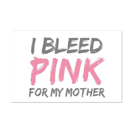 Pink Breast Cancer Mother Mom Mini Poster Print