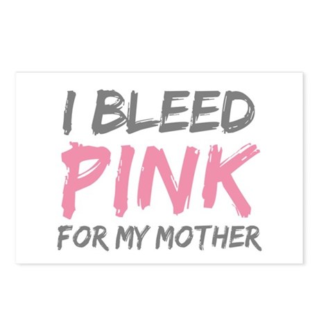 Pink Breast Cancer Mother Mom Postcards (Package o