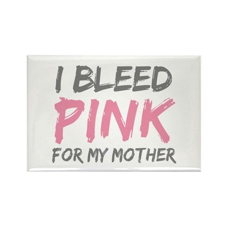 Pink Breast Cancer Mother Mom Rectangle Magnet