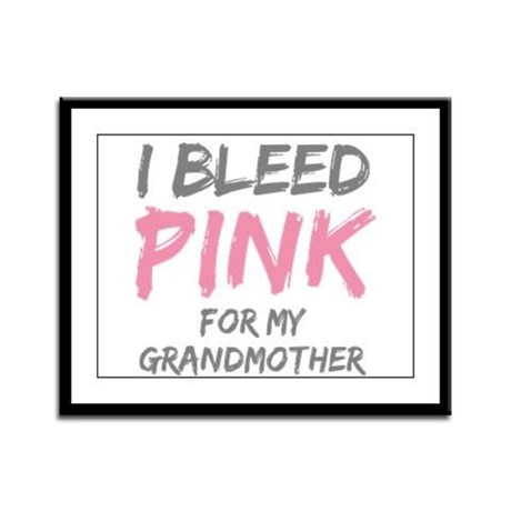 I Bleed Pink Grandmother Framed Panel Print