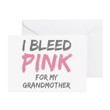 I Bleed Pink Grandmother Greeting Cards (Pk of 20)