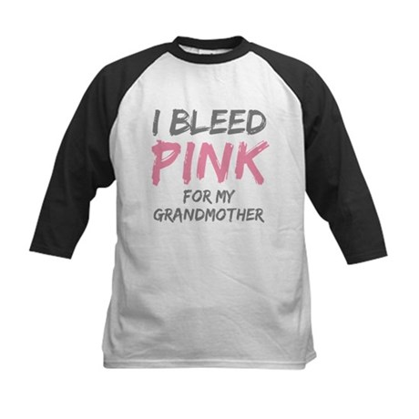I Bleed Pink Grandmother Kids Baseball Jersey