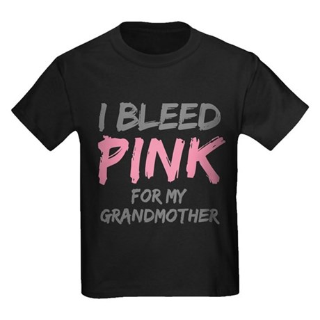 I Bleed Pink Grandmother Kids Dark T-Shirt