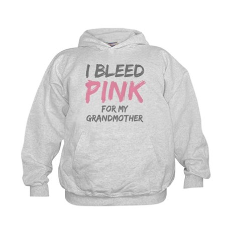 I Bleed Pink Grandmother Kids Hoodie