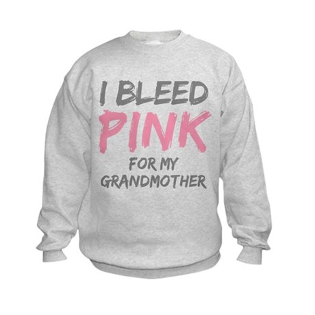 I Bleed Pink Grandmother Kids Sweatshirt