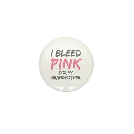 I Bleed Pink Grandmother Mini Button (100 pack)