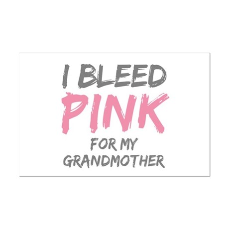 I Bleed Pink Grandmother Mini Poster Print