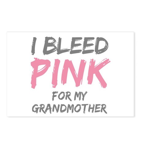 I Bleed Pink Grandmother Postcards (Package of 8)