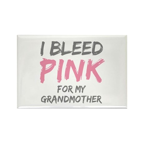 I Bleed Pink Grandmother Rectangle Magnet (100 pac