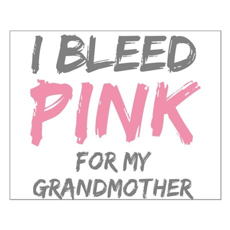 I Bleed Pink Grandmother Small Poster