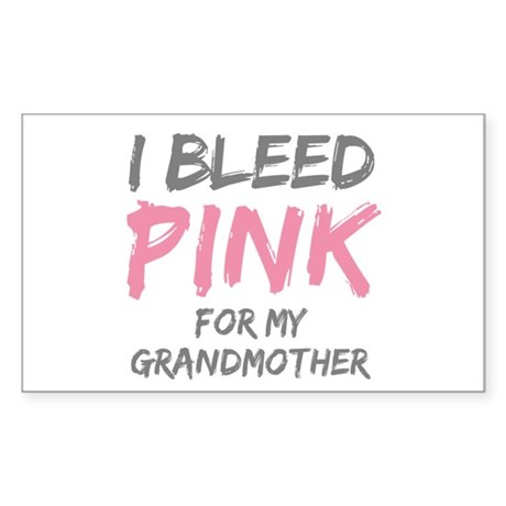 I Bleed Pink Grandmother Rectangle Sticker