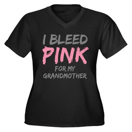 I Bleed Pink Grandmother Women's Plus Size V-Neck