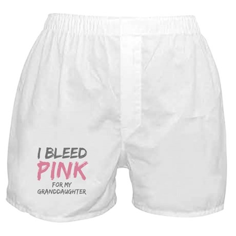 I Bleed Pink Granddaughter Boxer Shorts