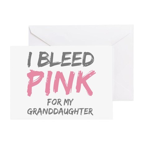 I Bleed Pink Granddaughter Greeting Card