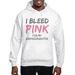 I Bleed Pink Granddaughter Hooded Sweatshirt