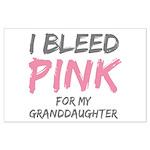 I Bleed Pink Granddaughter Large Poster