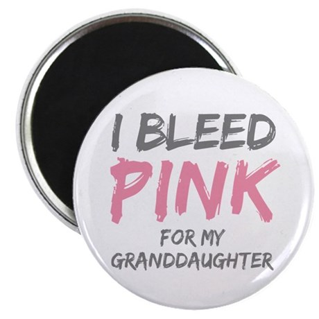 "I Bleed Pink Granddaughter 2.25"" Magnet (100 pack)"