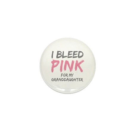 I Bleed Pink Granddaughter Mini Button (100 pack)