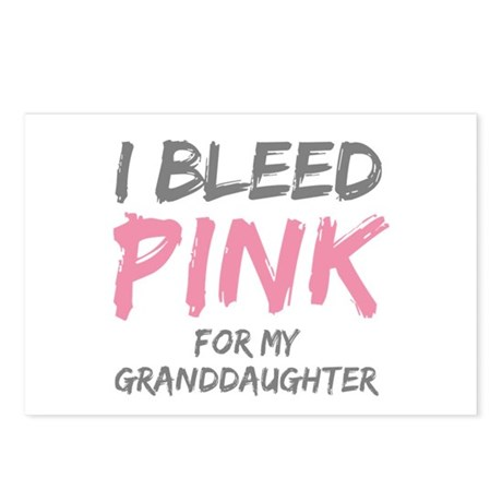 I Bleed Pink Granddaughter Postcards (Package of 8