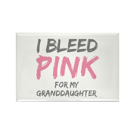 I Bleed Pink Granddaughter Rectangle Magnet (10 pa