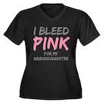 I Bleed Pink Granddaughter Women's Plus Size V-Nec