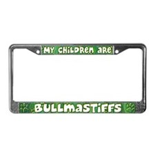 My Children Bullmastiff License Plate Frame