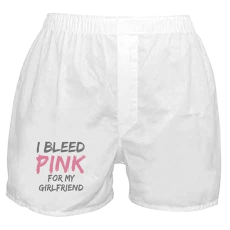 Pink Breast Cancer Girlfriend Boxer Shorts