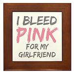Pink Breast Cancer Girlfriend Framed Tile