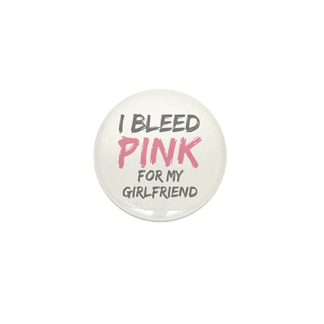Pink Breast Cancer Girlfriend Mini Button (10 pack