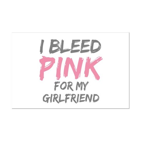 Pink Breast Cancer Girlfriend Mini Poster Print