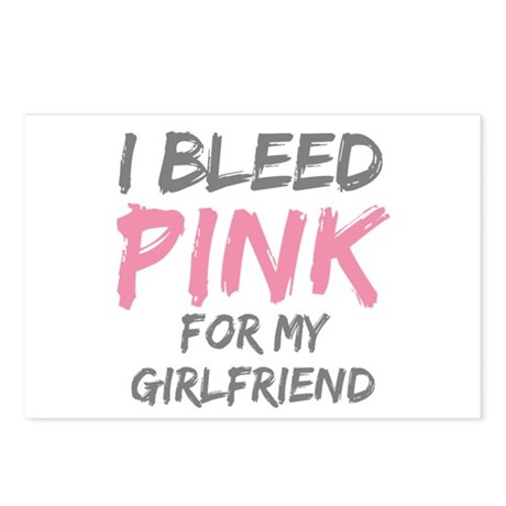 Pink Breast Cancer Girlfriend Postcards (Package o