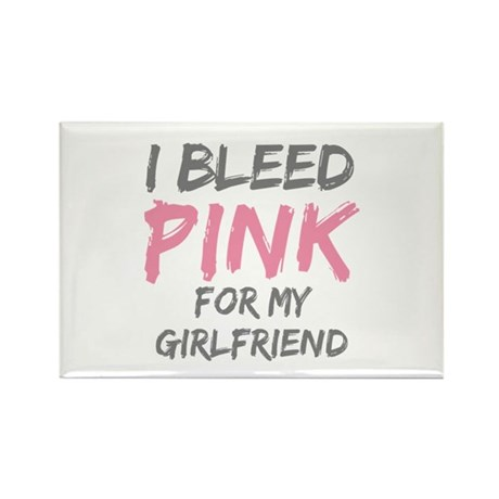 Pink Breast Cancer Girlfriend Rectangle Magnet (10