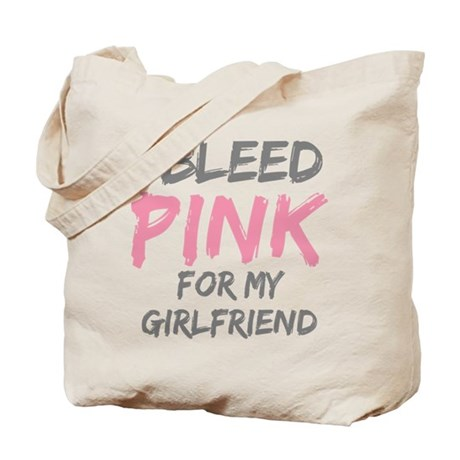 Pink Breast Cancer Girlfriend Tote Bag