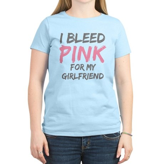 Pink Breast Cancer Girlfriend Women's Light T-Shir
