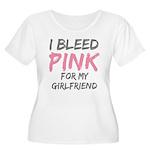 Pink Breast Cancer Girlfriend Women's Plus Size Sc