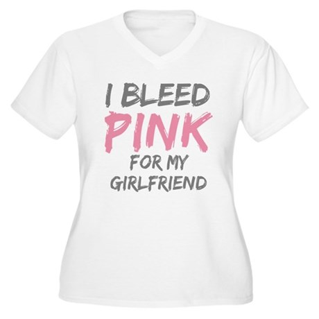 Pink Breast Cancer Girlfriend Women's Plus Size V-