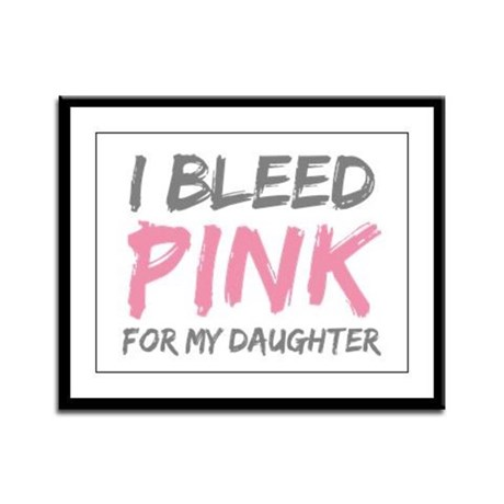 Pink Breast Cancer Daughter Framed Panel Print