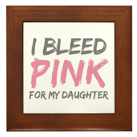 Pink Breast Cancer Daughter Framed Tile