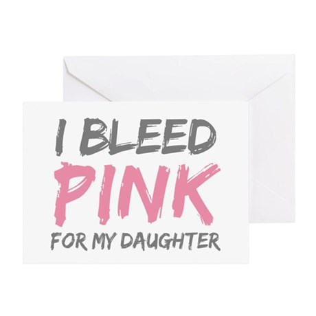 Pink Breast Cancer Daughter Greeting Card