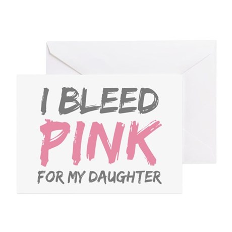 Pink Breast Cancer Daughter Greeting Cards (Pk of