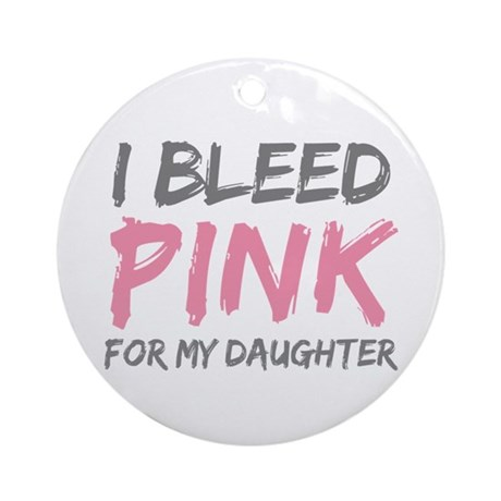 Pink Breast Cancer Daughter Ornament (Round)