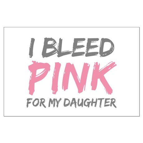 Pink Breast Cancer Daughter Large Poster