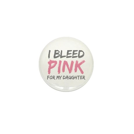 Pink Breast Cancer Daughter Mini Button