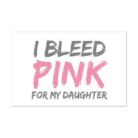 Pink Breast Cancer Daughter Mini Poster Print