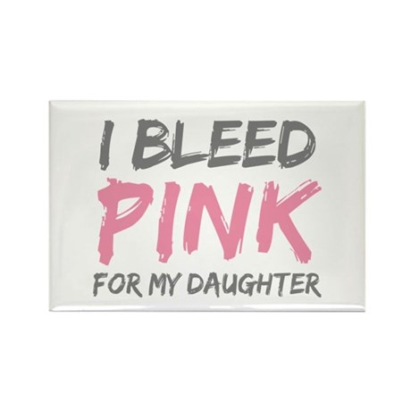 Pink Breast Cancer Daughter Rectangle Magnet (100