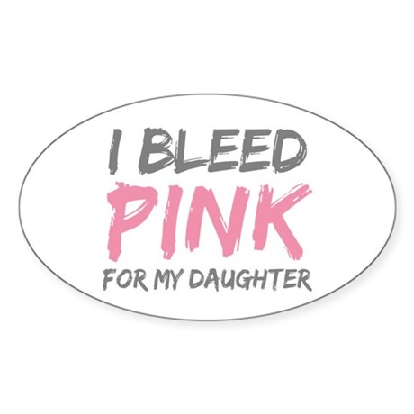 Pink Breast Cancer Daughter Oval Sticker