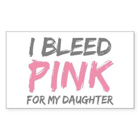 Pink Breast Cancer Daughter Rectangle Sticker