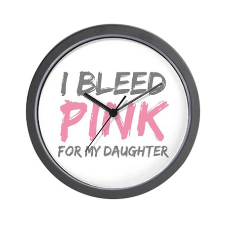 Pink Breast Cancer Daughter Wall Clock